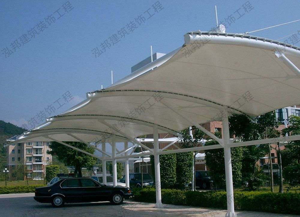 钢结构棚 膜结构车棚 常州市佰特膜结构工程有限公司