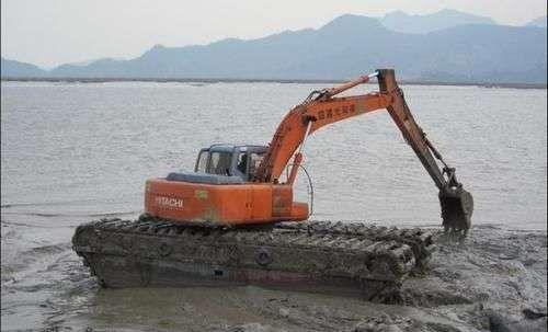 合肥池塘开发水陆挖掘机出租哪家好,长臂水陆挖机 品质保障